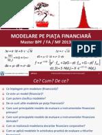 Modelarea pe piata financiara - Note de Curs 1