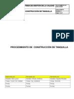 Ir-pr-civ-09, Rev 0. Construcción de Tanquilla