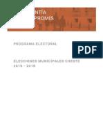 Programa Compromis Cheste 2015 Municipales
