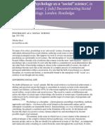 24737638 Nikolas Rose Psychology as a Social Science[1]