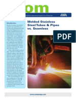 Welded Stainless Steel Tubes and Pipes vs Seamless Acom