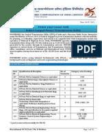 Detailed Advt PhD MTech