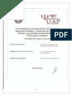 Informe Proyeccion Social I-cabrera