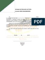Autorização de desconto em Folha SESC ASSOSEHORA
