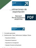 destinaciones de exportacion
