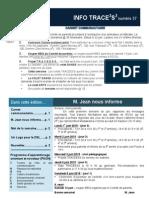Info-TRACEESS Numéro 37, le 1er juin 2015