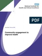 Community Engagement to Improve Health - NICE UK - 2008