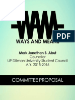 Ways and Means Committee Proposal - Abut, Marjon