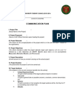 Mass Media Committee Proposal (Communication Plan) - Ascue, Nemo