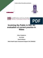 Involving the Public in HIA an Evaluation - WHIASU Wales - 2008