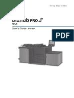 Bizhub Pro 951 Printer User Guide