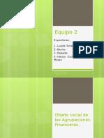 Objeto Social de Las Agrupaciones Financieras Ok