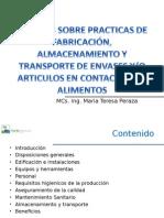 Buenas Practicas de Fabricacion de Envases( Ing. Maria T. Peraza)