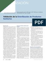 Articulo Validacion de La Esterilizacion de Productos Sanitarios Www.farmaindustrial.com