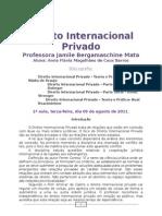 Caderno de Internacional Privado