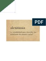 Alextimia
