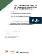 Le rôle de la participation public dans le processus de fabrication des espaces publics. Le cas de Montréal