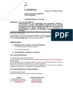 Carta Observa Sondor Lp Progreso Huanacopampa