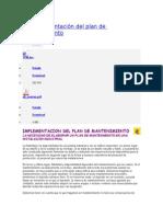 04 Implementación Del Plan de Mantenimiento