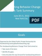 2012 Handwashing Think Tank Summary