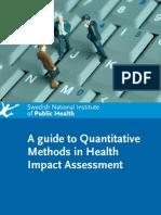 Guide to Quantitative Methods in HIA - SNIPH Sweden - 2008