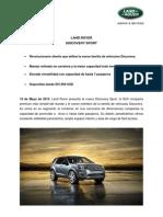 Boletín de Prensa Land Rover Discovery Sport