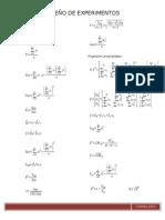 Formulas de Diseño