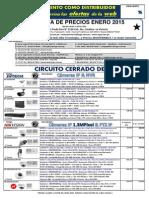 Lista de Precios Enero 2015