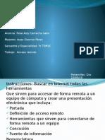 Diapositiva de acceso remoto