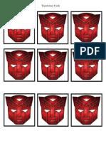Transformer Hide n Seek Cards