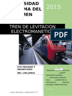 Metodo de Levitacion de Tren Por Medio de Electromagnetismo
