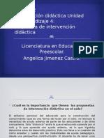 Intervención Didáctica Unidad de Aprendizaje 4-Angie Jimenez