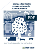 Review package for HIA reports of development projects - BCA England - 2009