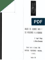 Analisis de Elemento Finito y Sus Aplicaciones a La Ingenieria