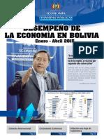 Desempeño de la Economía Boliviana Enero -  Abril 2015