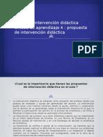 Ntervención Didáctica Unidad e 4 Propuesta de Intervención Didáctica