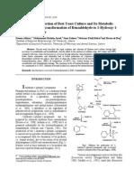 Rapid Izolace / Výběr nejlepšího kultury kvasinek a jeho metabolický Ovládání pro biotransformace benzaldehydu na 1-hydroxy-1- fenyl-2-propanon