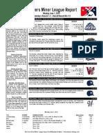 Minor League Report 15.06.01