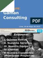 Gaman Consulting - Brochure Resumen Mayo 2015