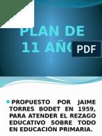 plan de 11 años