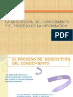 La Adquisicion Del Conocimiento y El Proceso de La Imformacion