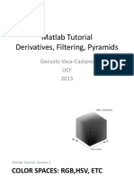 Matlab Tutorial Derivatives, Filtering, Pyramids