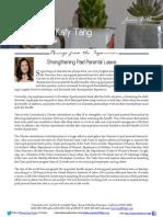 Supervisor Tang June Newsletter