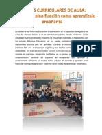 DISEÑOS CURRICULARES DE AULA