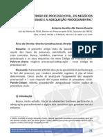 Negócios Processuais e o NCPC