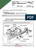 Unite de Fabrication de Couvercle en Beton Dossier Technique
