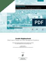 Liveable Neighbour Hoods Street Layout Design Traffic Mx Guidelines - GWA Australia - 2000