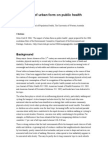 The Impact of Urban Form on Public Health - UWA Australia - 2006