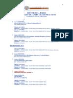 Calendario de Clases h II 2011