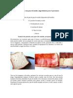 Pastel de Jamón Con Pan de Molde o pan de sandwich